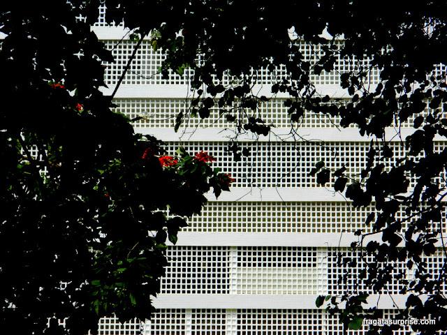 Cobogós em um bloco da Quadra 308 Sul de Brasília