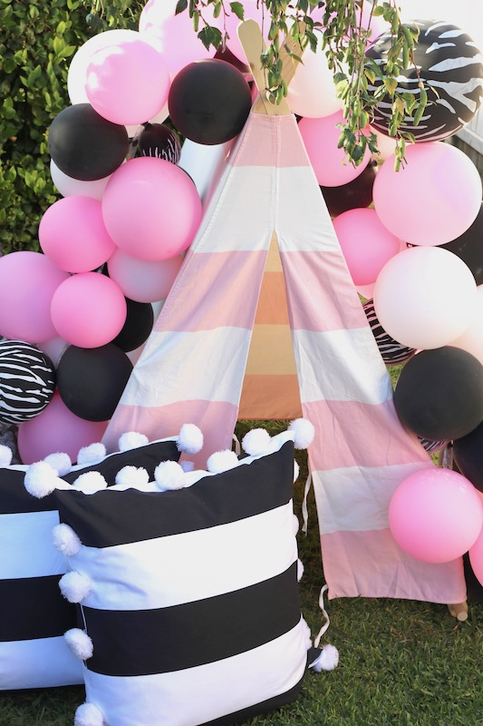 Pretty Pink Zebra Themed Birthday Party Laura S Little