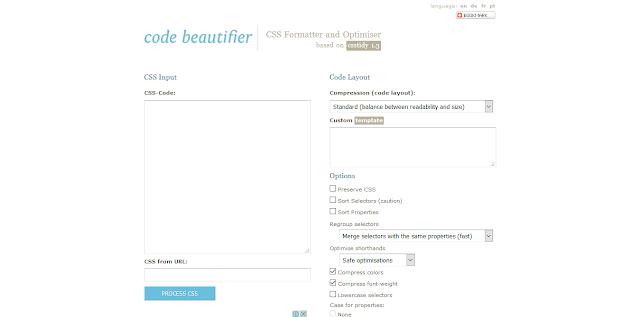 Situs - Situs Untuk Merapihkan Kode CSS - Code Beautifier