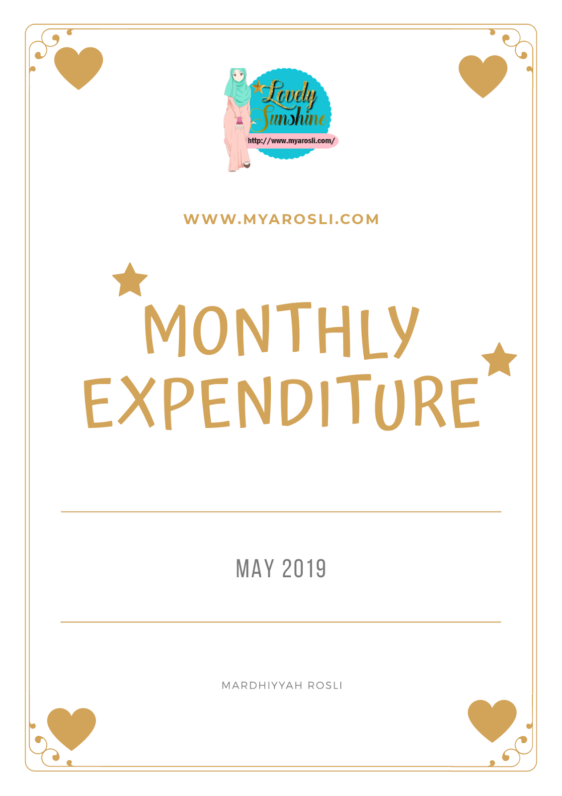 monthly expenditure