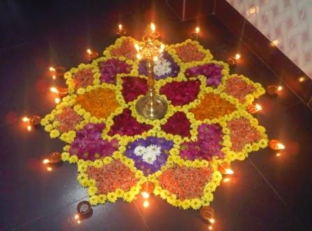 rangoli designs with flowers