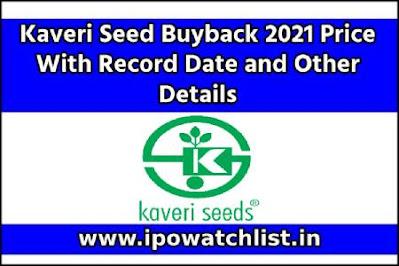 Kaveri Seed Buyback