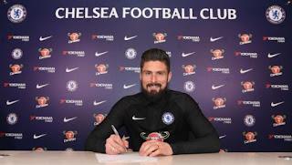 Olivier Giroud Resmi Pindah ke Chelsea