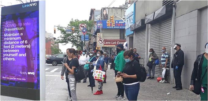 Dominicanos en NY  rompen distancia social  antes de reapertura en fase 1 que comenzaría en junio