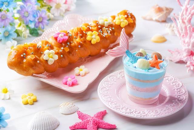 小魚仙海洋菠蘿慕絲杯, 長髮公主蜜餞橙皮辮子麵包, The Little Mermaid Ocean Pineapple Mousse Cup, Rapunzel Candied Orange Peel Braided Bread 放玩奇妙當夏 香港迪士尼樂園度假區 反斗奇兵大本營 Hong Kong Disneyland Resort Summer Chill
