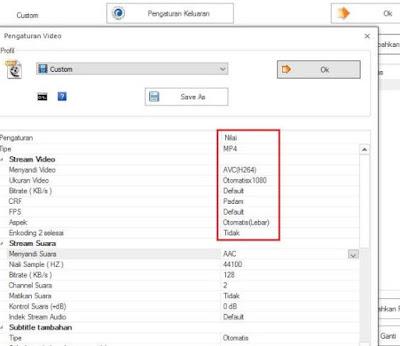 cara convert file audio video offline menggunakan format factory - setting mp4