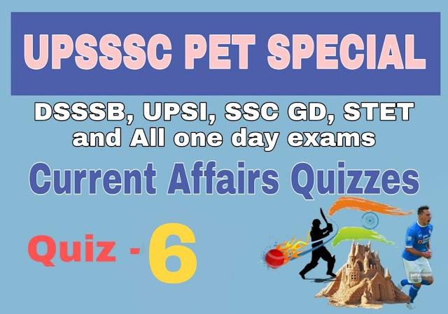 Current Affairs Quiz-6