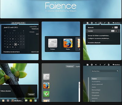 Gnome Shell theme - Faience by Tiheum