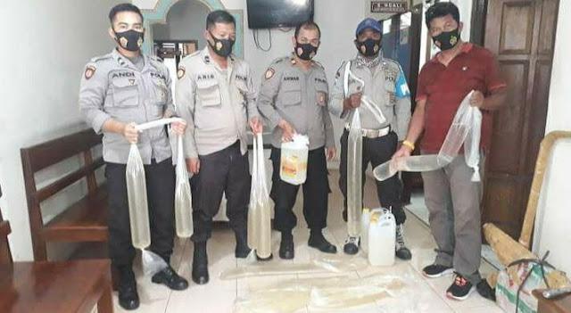 85 Liter Miras Ilegal Diamankan Polsek KPL Jayapura