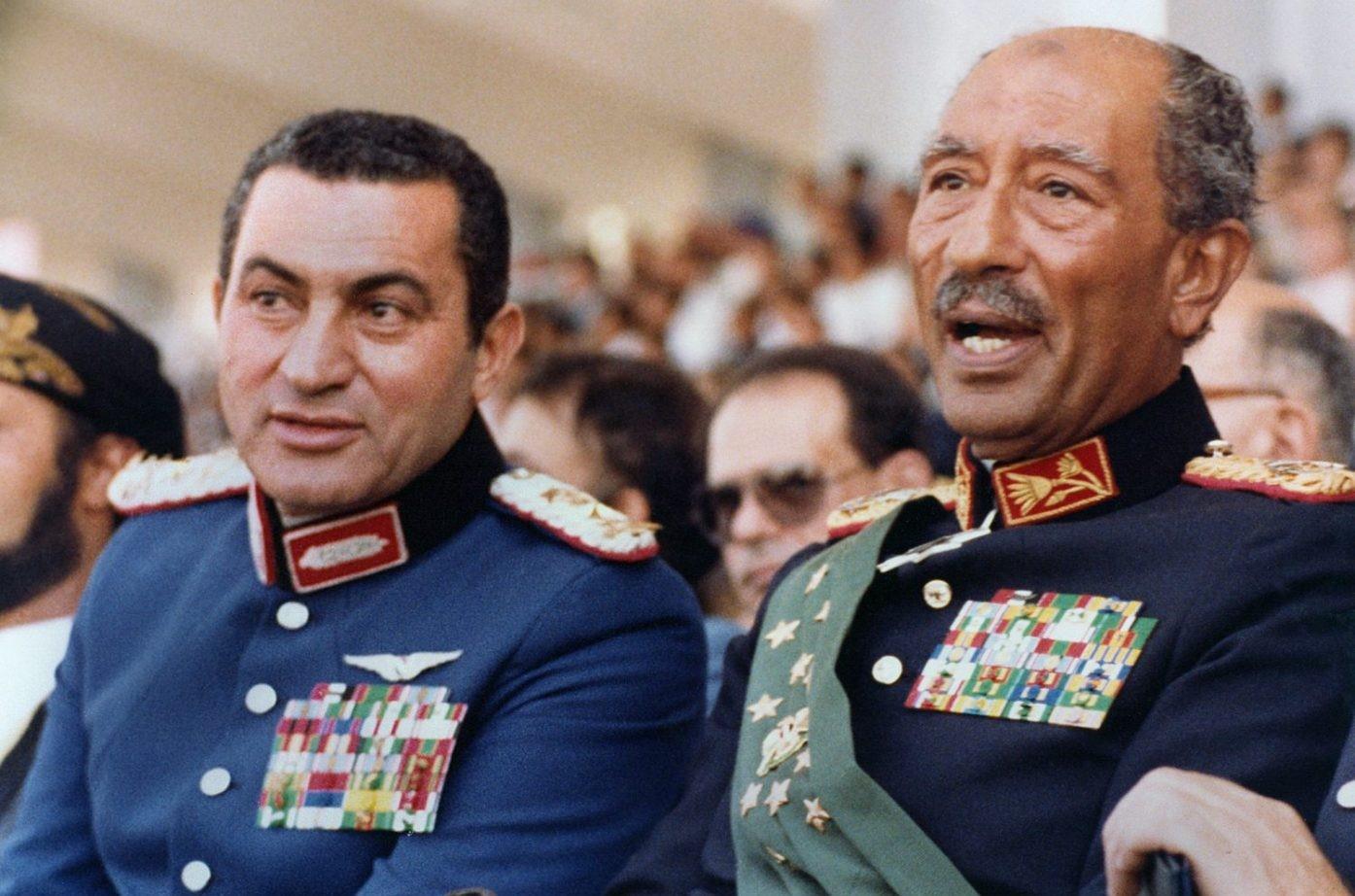 الرئيس الراحل انور السادات - الرئيس محمد حسني مبارك