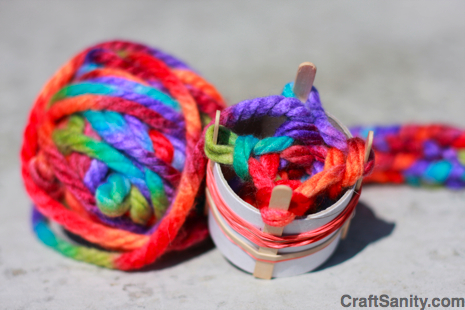 tangled happy yarn crafting with kids spool knitting