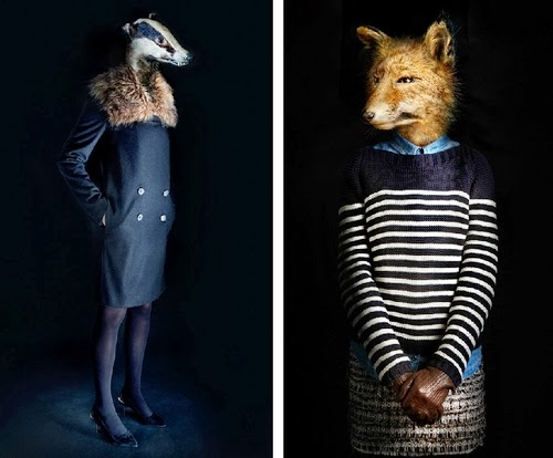 09-Badger and Fox-Miguel-Vallinas-Segundas-Pieles-Second-Skins-Smartly-Dressed-Animals-www-designstack-co