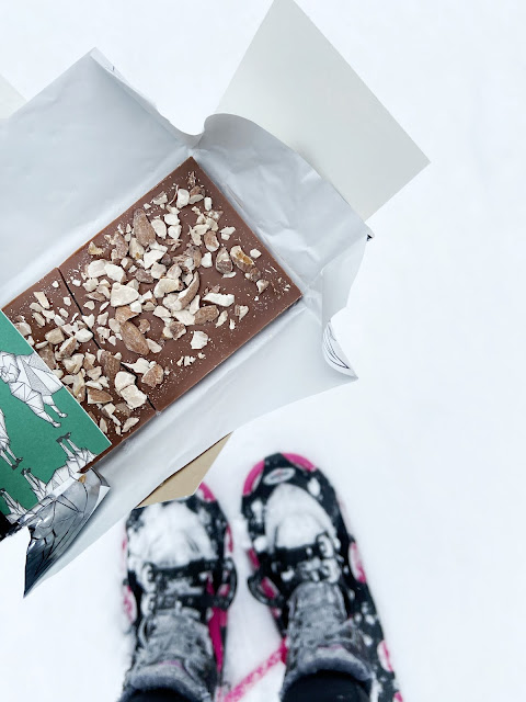 chocolate + snowshoes