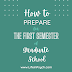 How to Prepare for the First Semester of Grad School