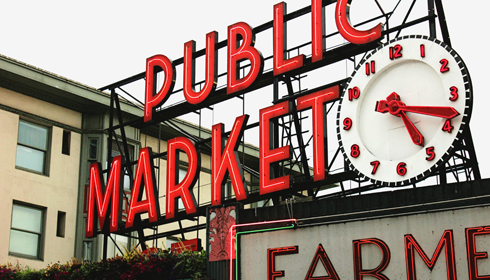 pike place market seattle photography