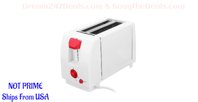 2 Slice Toaster, TAPCET Electric Toaster Oven Household Electric Automatic Bread Baking Maker  30% OFF