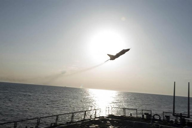"""Jet Rusia Jangan Lagi Mengganggu Kapal Angkatan Laut Amerika Serikat"""