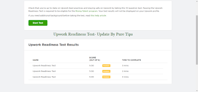 Upwork Readiness Test