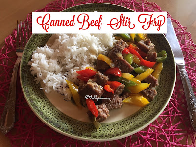 How to Cook Canned Beef Stir Fry with Bell Peppers