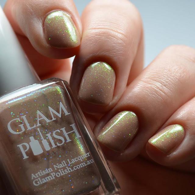 tan shimmer nail polish