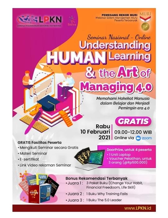 Seminar Nasional Undestanding Human Learning and Art of Managing 4.0