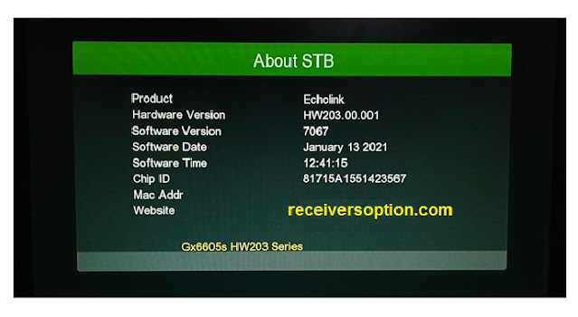 Download Software GX 6605s firmware Hw203.00.001 Receiver
