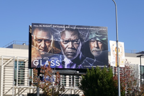Glass movie billboard