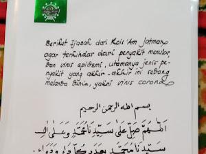 Ijazah Doa dari Habib Luthfi, Agar Terhindar Dari Virus Corona