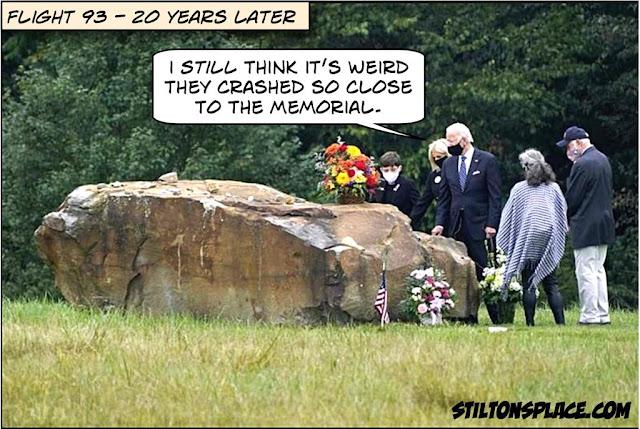 stilton's place, stilton, political, humor, conservative, cartoons, jokes, hope n' change, 9/11, Biden, Flight 93, 20th anniversary