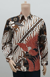 Model Baju Batik Pria Lengan Panjang Pola Parang