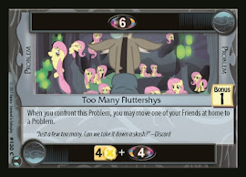 My Little Pony Too Many Fluttershys Defenders of Equestria CCG Card