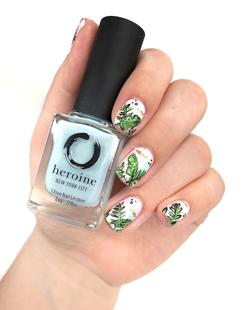 Tropical Leaf Nail Art