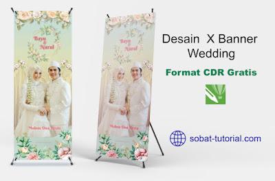 Desain X Banner Wedding Format Coreldraw Gratis