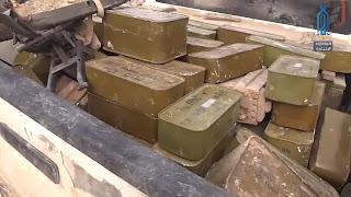 شاهد كمية الأسلحة الروسية التي عثرت عليها الفصائل بريف إدلب (فيديو)