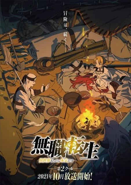 Mushoku Tensei -Isekai Ittara Honki Dasu- estrenará su segunda parte en octubre.
