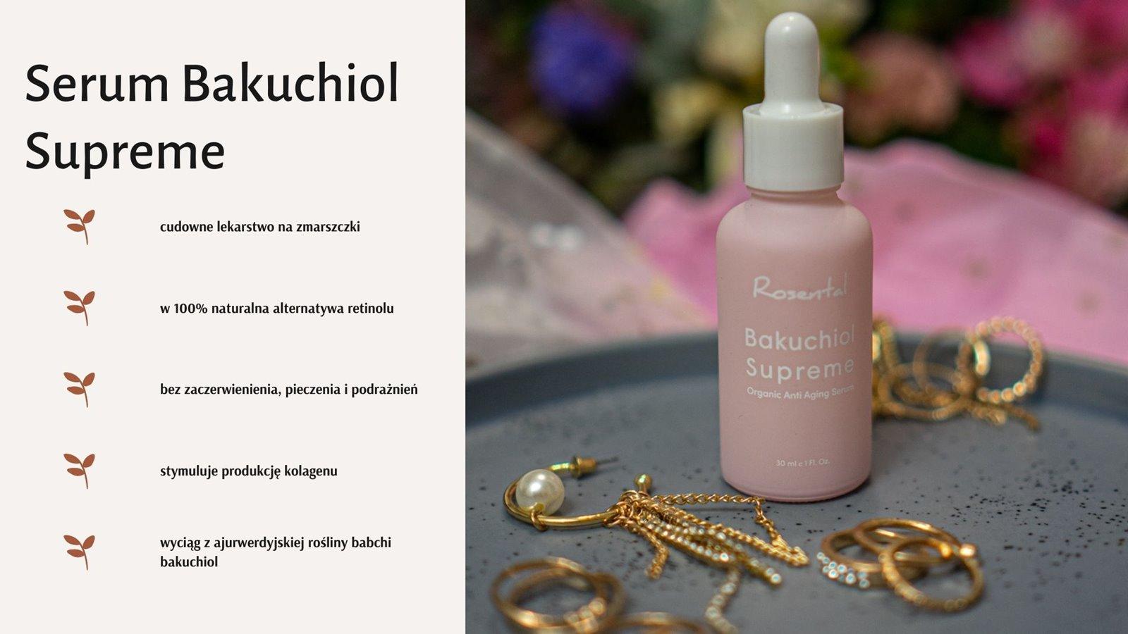 3 Serum do twarzy bakuchiol supreme rosental organics cena opinia recenzja rabat czy warto
