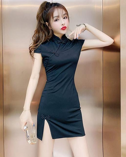 Women's Mini Cheongsam Qipao Dresses
