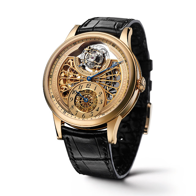 Leroy Automatic Tourbillon Regulator Mechanical Watch