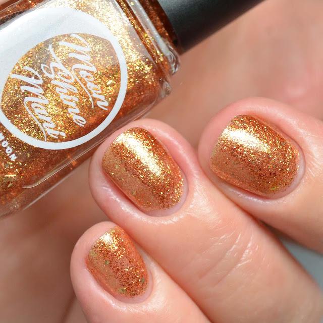 rum gold flakie nail polish swatch
