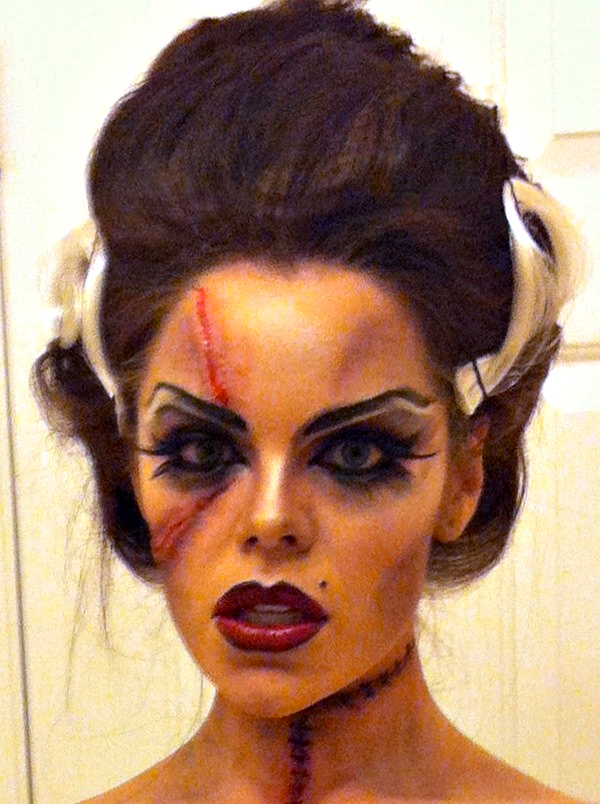 The Strength Of A Flame Bride Of Frankenstein Halloween Tutorial