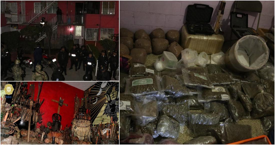 """Así era el narcotúnel de """"La Unión Tepito"""" que fue desmantelados por autoridades de CdMx; armas, lanzacohetes, cartuchos y granadas"""