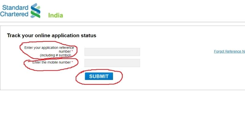 Standard Chartered Credit Card Status Tracking