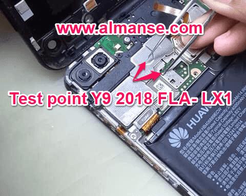 test point Huawei Y9 2018 FLA-LX1