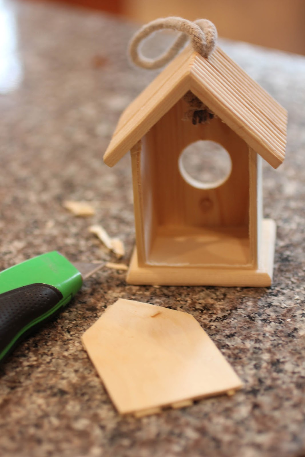 Window bird house -  Cut The Back Off The House To Make A Wall We Could See Through The Wood Was Thin On The Back And I Was Able To Cut It With A Box Cutter