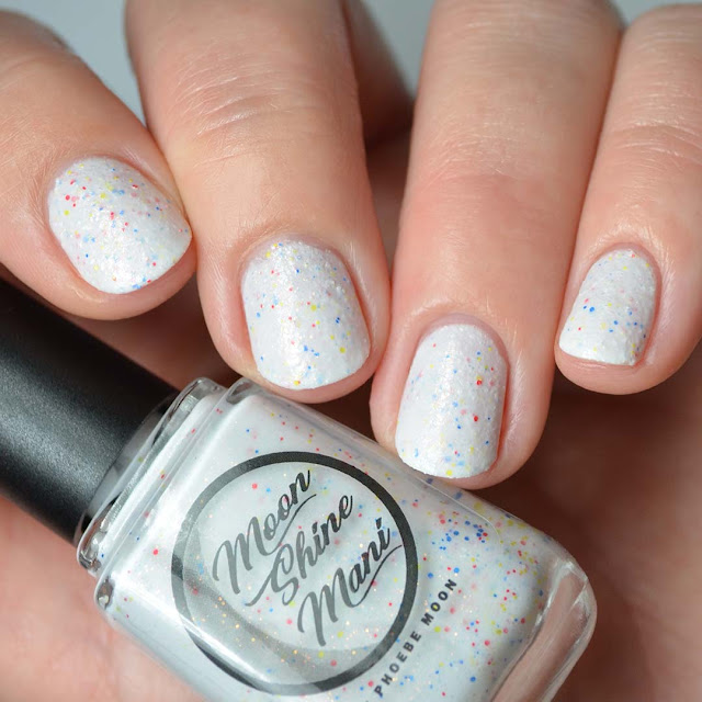 white textured nail polish