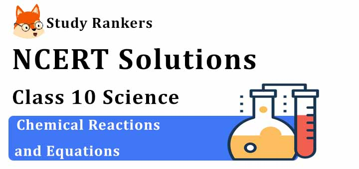 NCERT Solutions for Class 10 Science Chapter 1 Chemical Reactions and Equations
