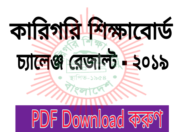 BTEB Challenge Results 2019 |  Polytechnic Board Challenge Results 2019 Published