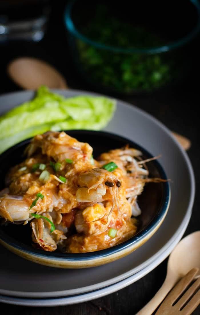 Asian garlic chilli prawns recipe