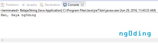 Tipe Data String Dalam Bahasa Pemrograman Java