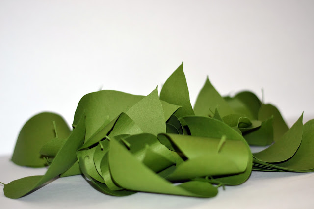 magnolia leaves cut out of paper